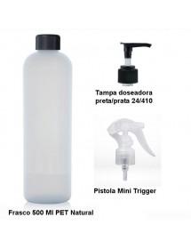 Frasco PET 500ml Branco (Doseador/Pistola)