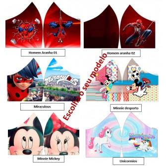 Máscaras infantis personagens herois