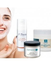Tratamento Cosmético Infinity: CC Cream + Mascarilla Facial Arcilla + Creme Pés Triplo Ação